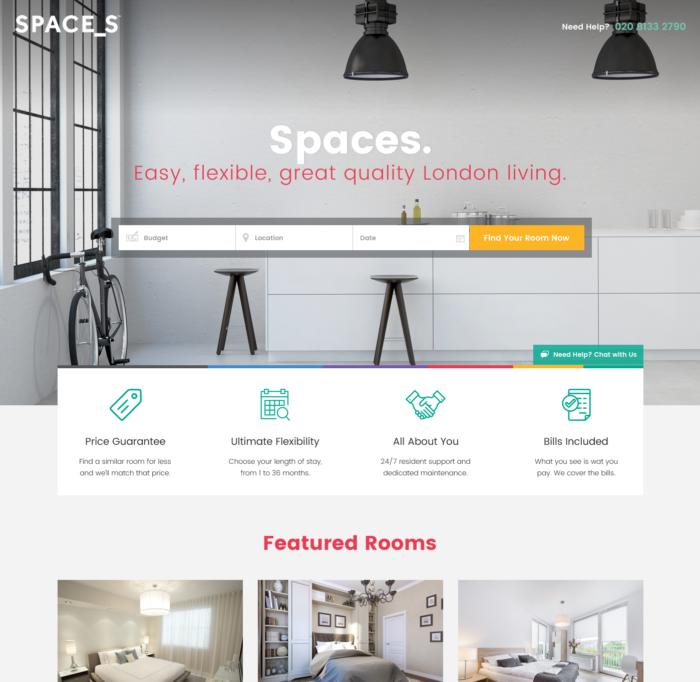 modern real estate web design