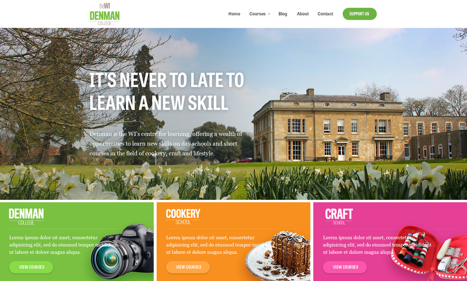 Denman College website