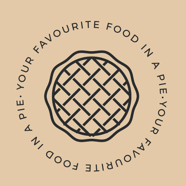 pie logo using minimalistic line art for pie restaurant