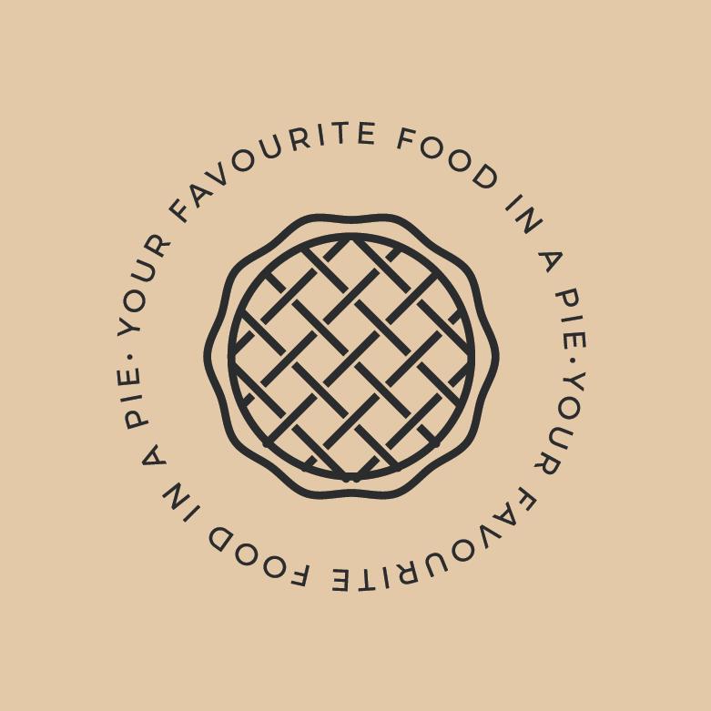 pie logo using minimalistic line art for pie restaurant