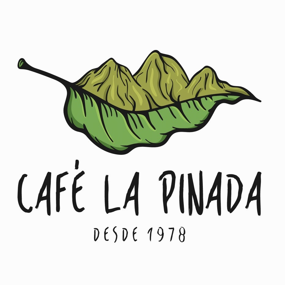 original timeless restaurant logo with mountains