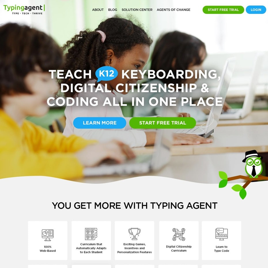 Web design for elementary school education