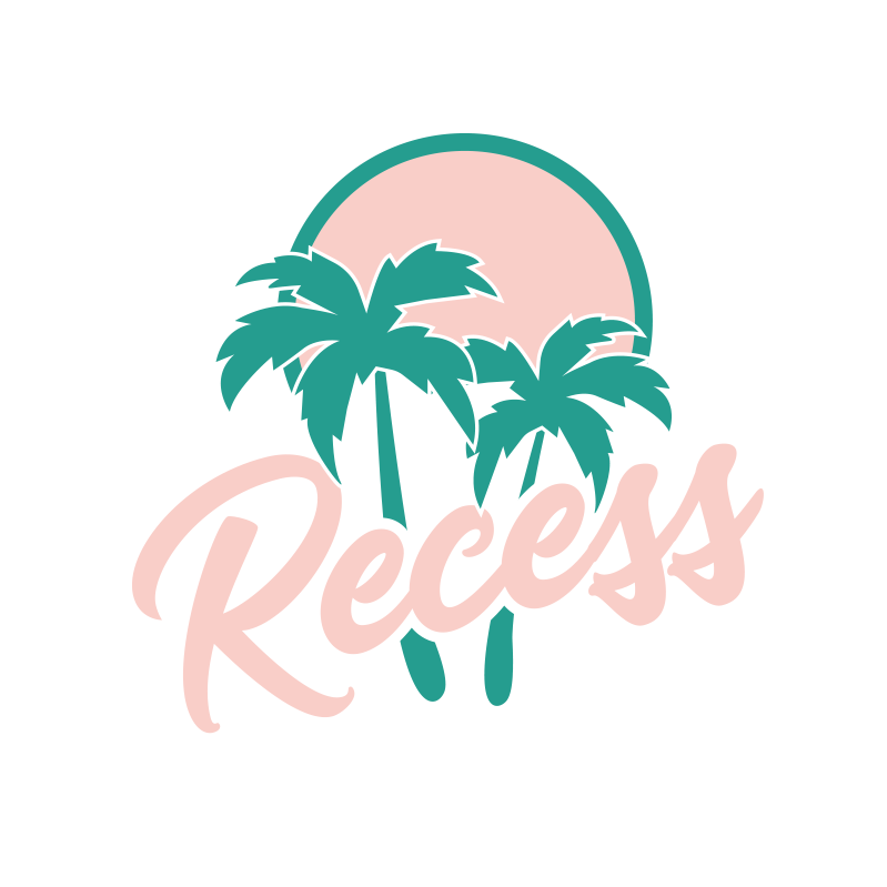 tropical restauran logo with palm trees