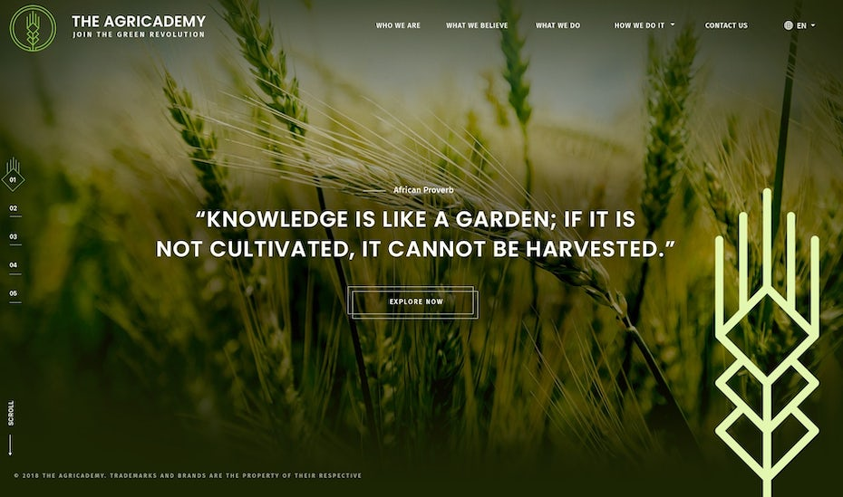 Educational website for learning agriculture