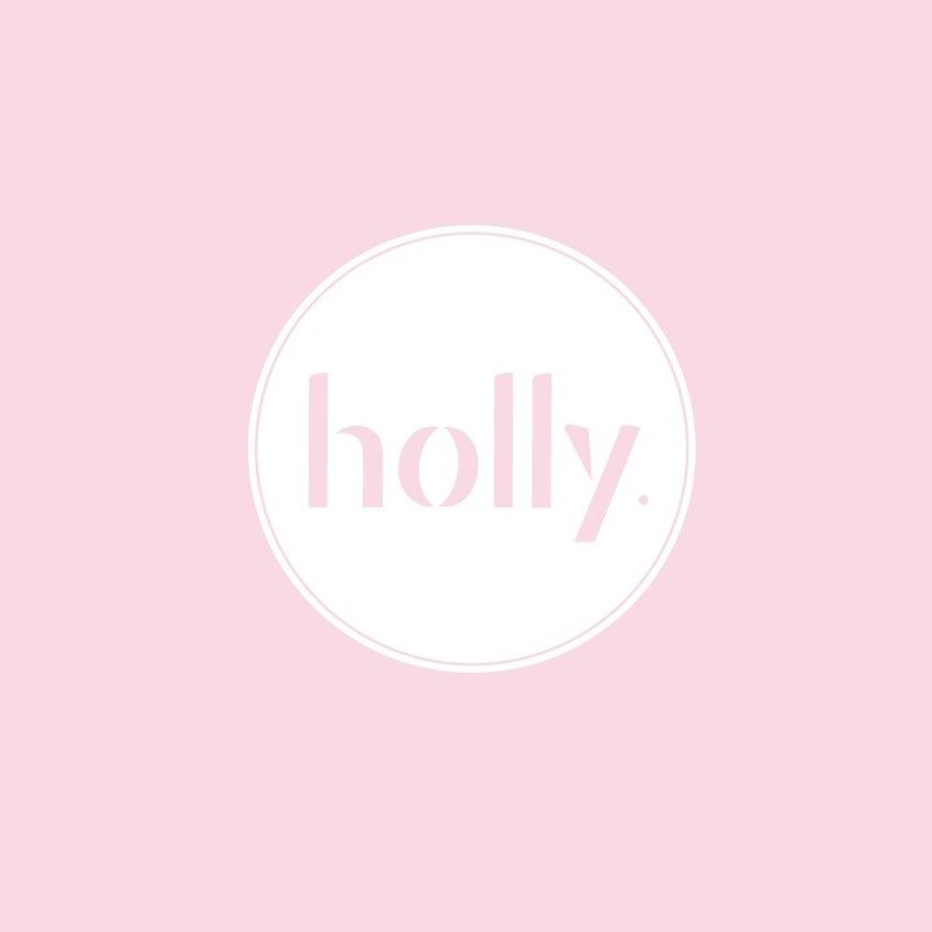 modern feminine restaurant logo in light pink