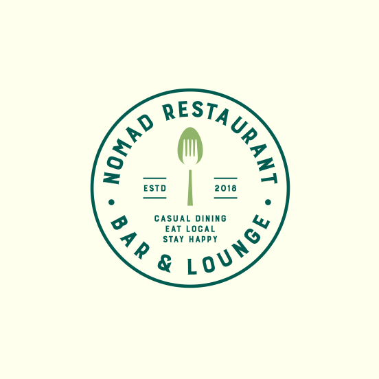 simple classic restaurant logo emblem