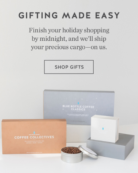 Blue Bottle Coffee Cyber Monday campaign