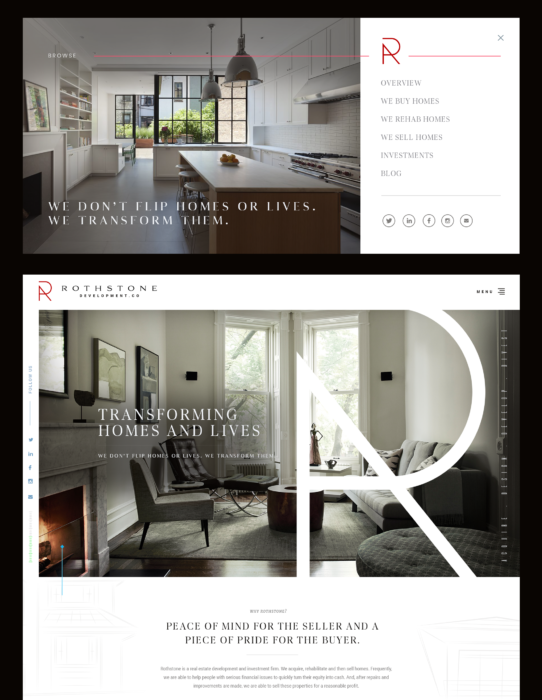 high-end real estate website design