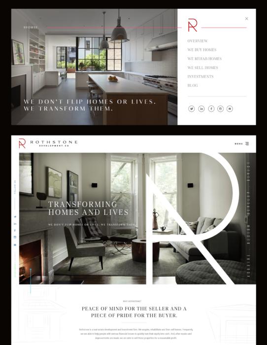 high-end real estate website design