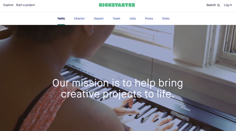 Screenshot from Kickstarter