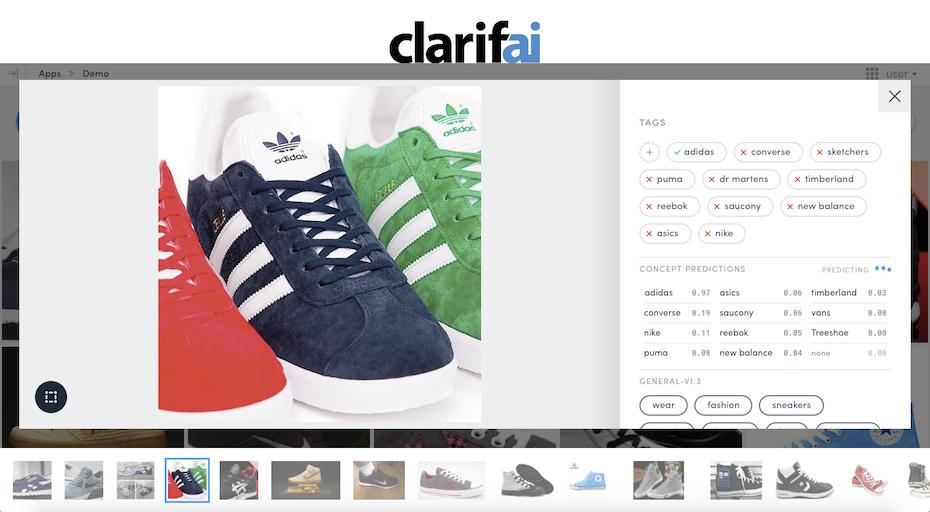 Clarifai image recognition