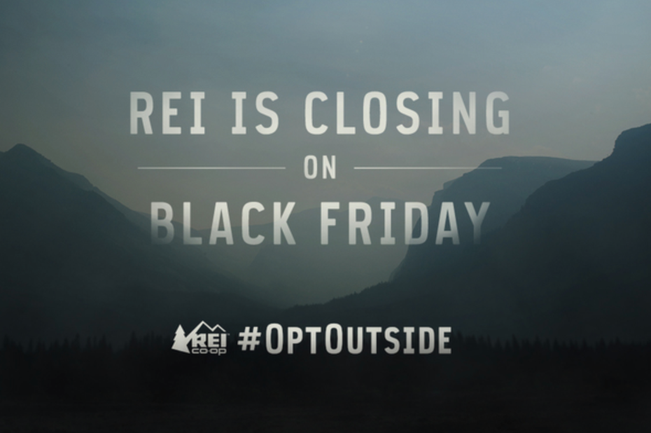 REI #OptOutside Black Friday ad