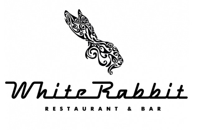 famous restaurant logo White Rabbit