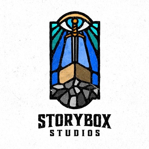 Tendencias de diseño gráfico 2020 ejemplo: logotipo de estilo vitral medieval