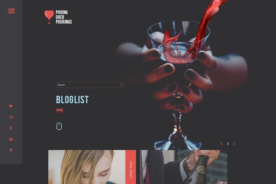 Web design trends 2020 example: dark mode