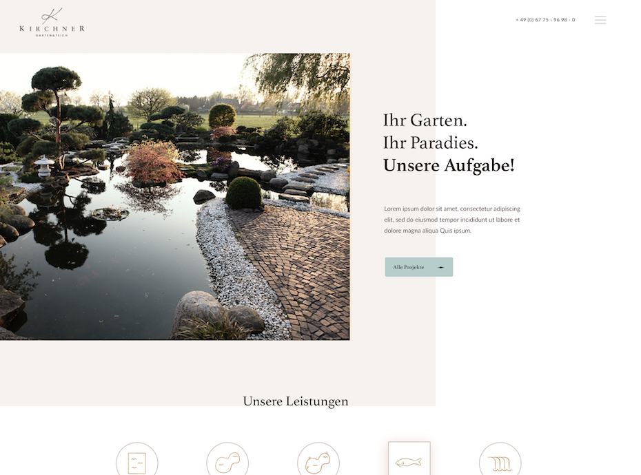 Example of 2020 web design trend of framing with blank space