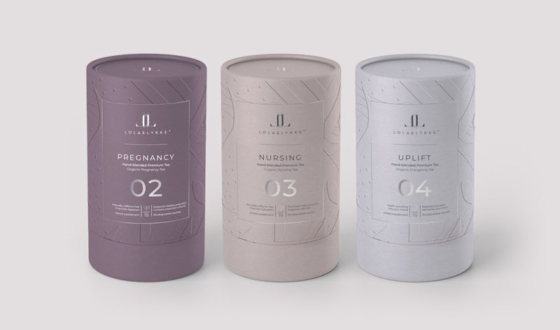Packaging design trends 2020 example: Lola & Likke Tea packaging