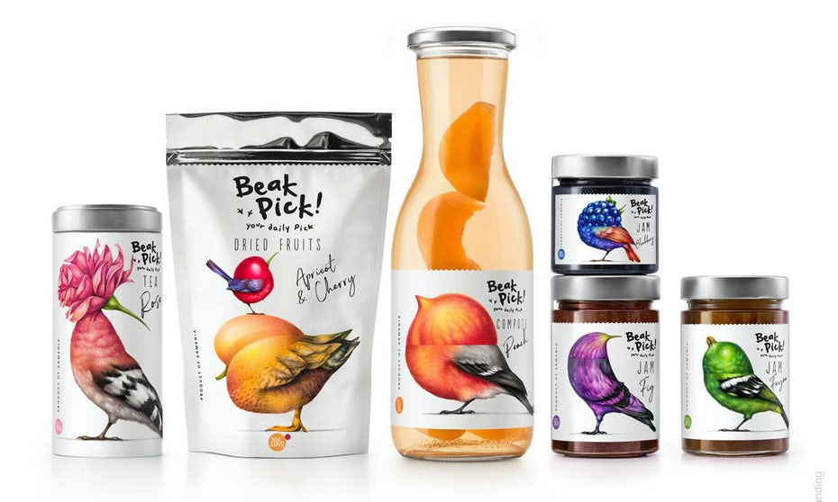 Beak Pick bird centered packaging