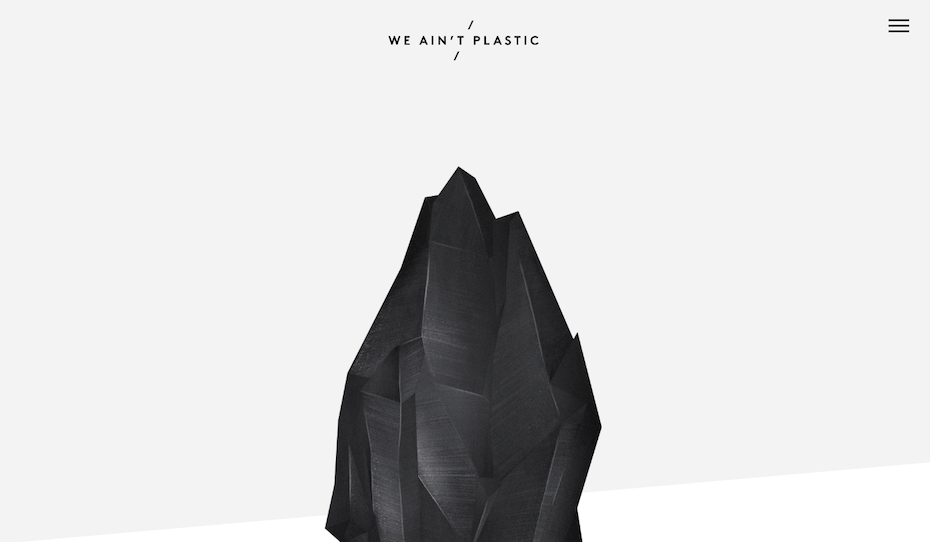 minimal we aint plastic website