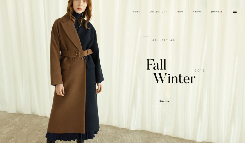 minimalistic fashion web design with simple color scheme