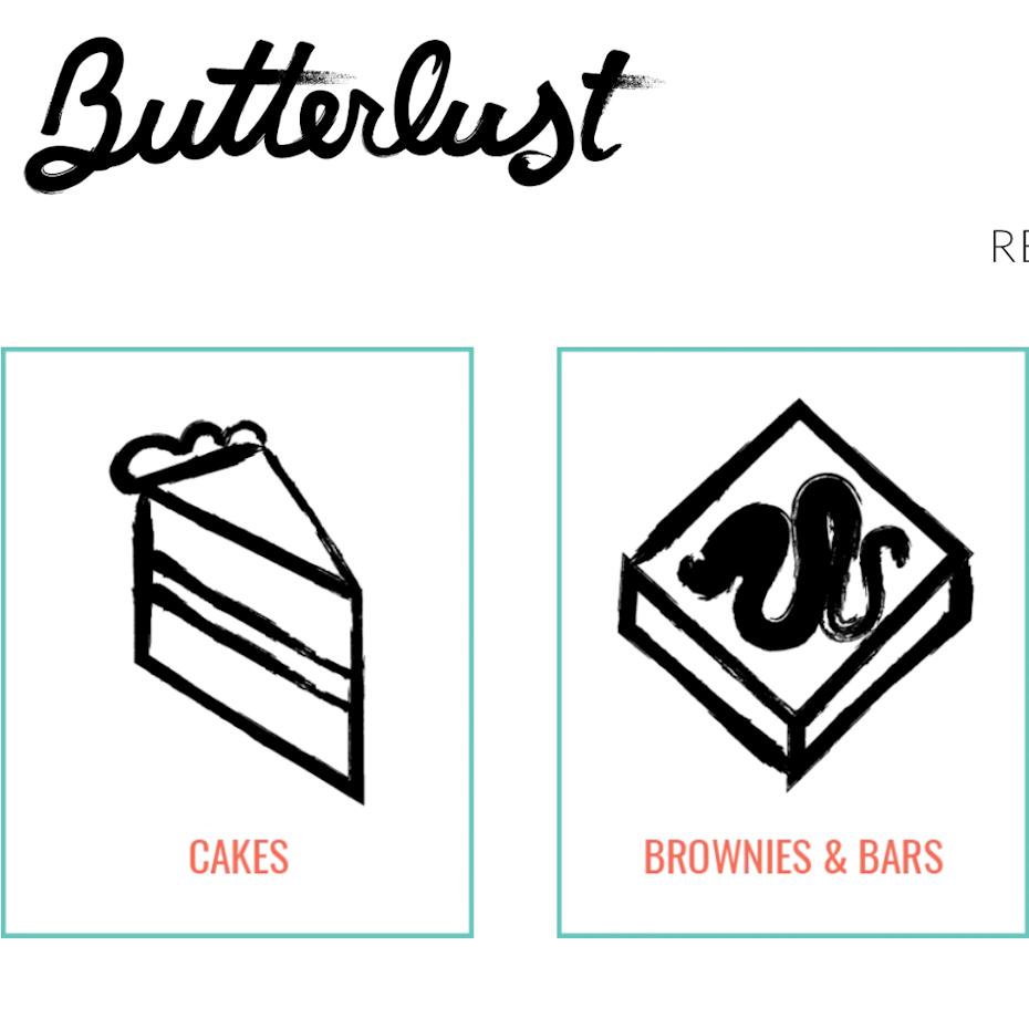 Exemplo de 2020 web design tendência ícones e elementos desenhados à mão