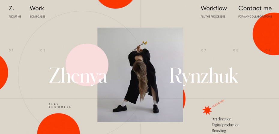 Exemplo da tendência do design web de 2020 de misturar fotografias reais com gráficos
