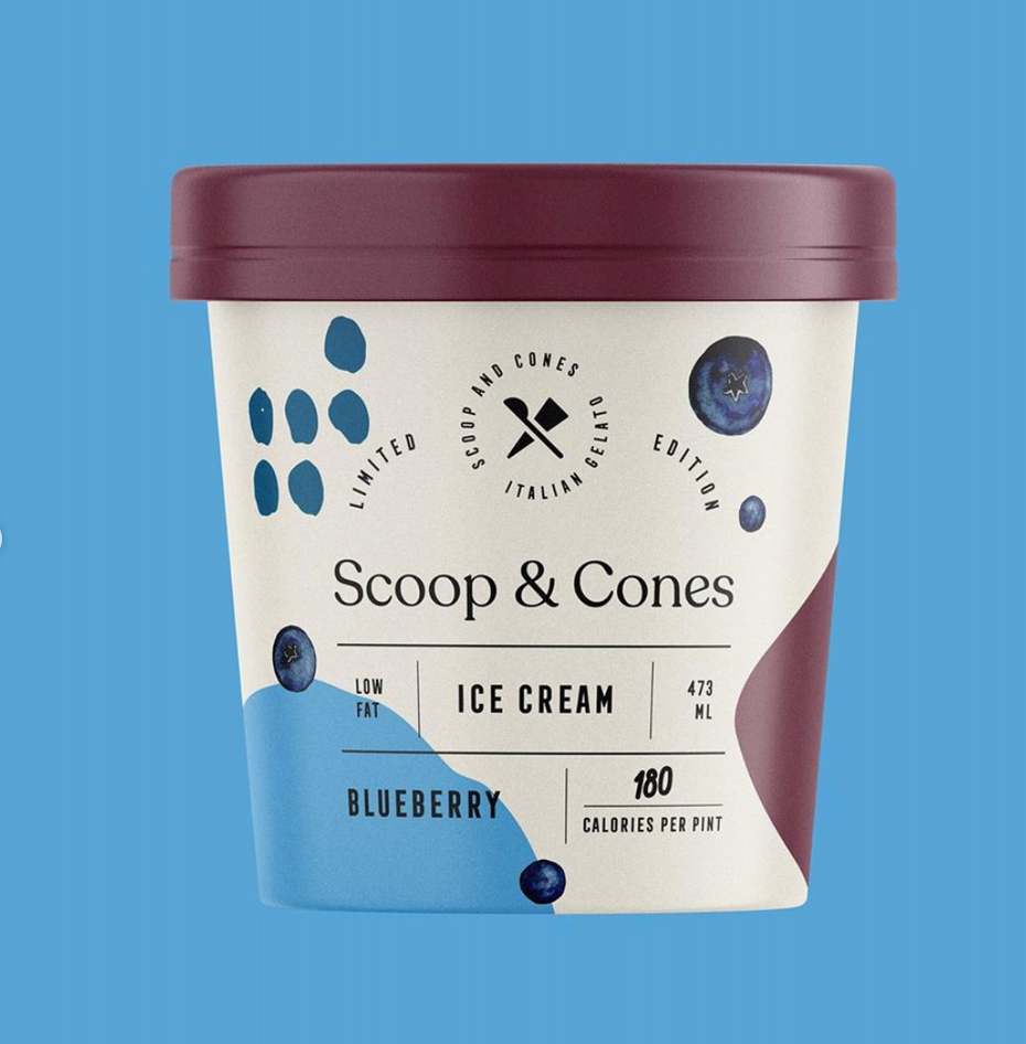 Scoops an Cones ice cream packaging