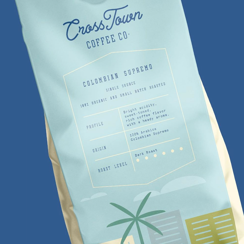 Cross Town Coffee Co. packaging