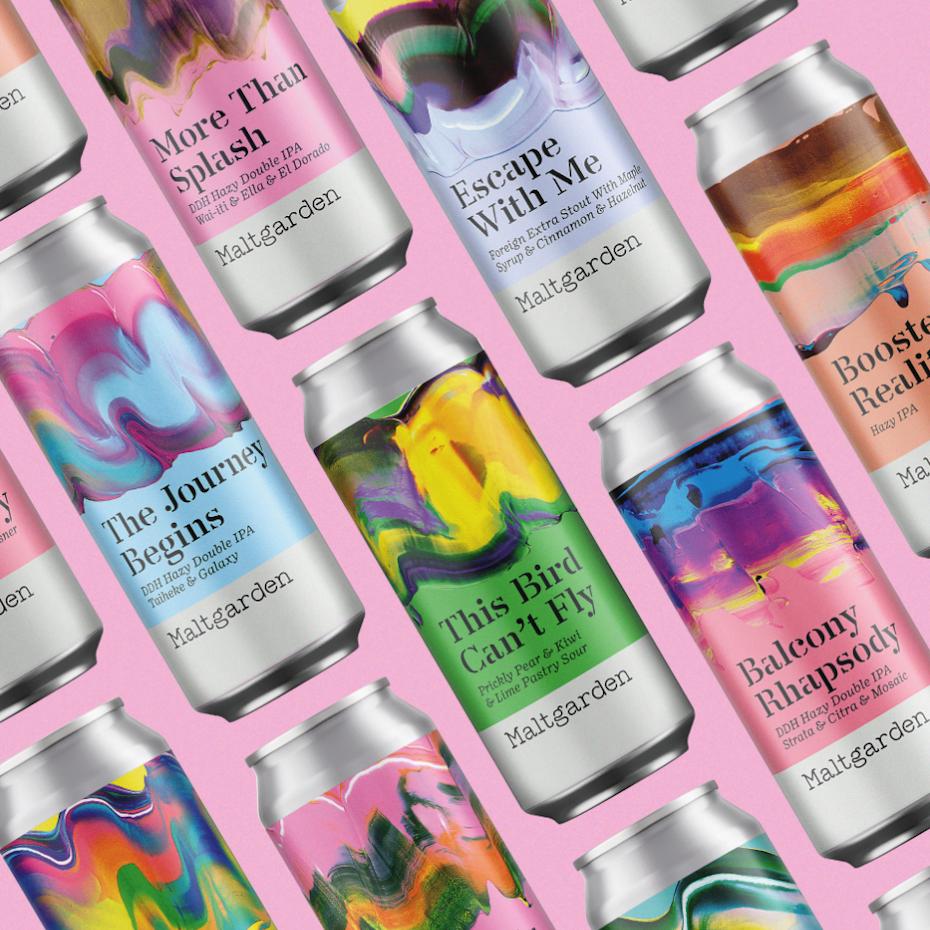 art inspired beer can design