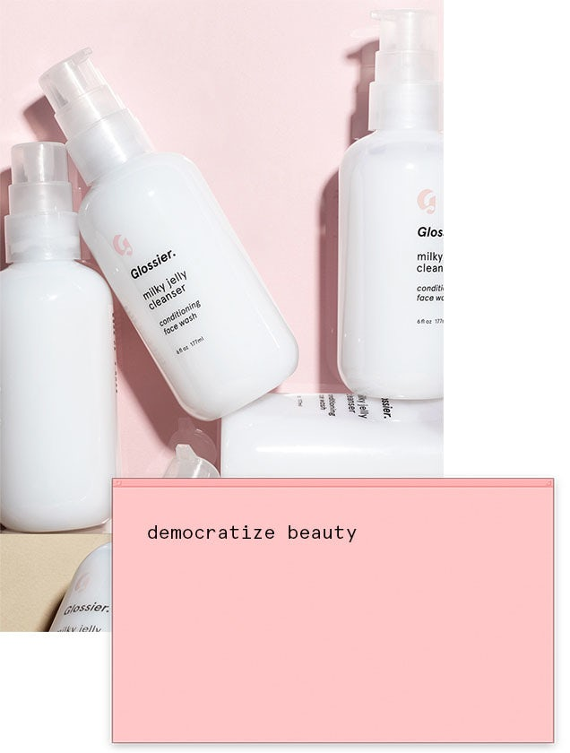 Beauty company Glossier packaging