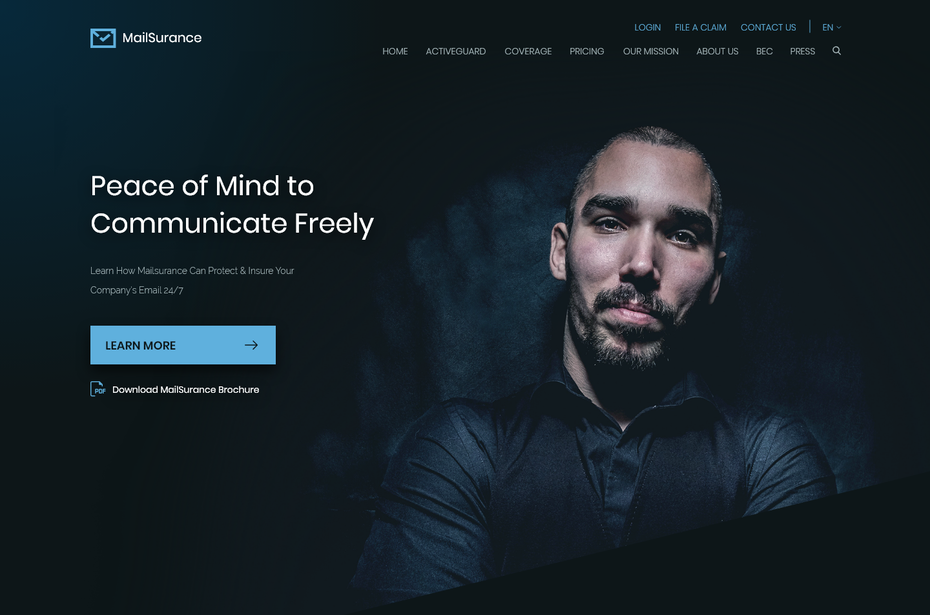 Example of 2020 web design trend dark mode