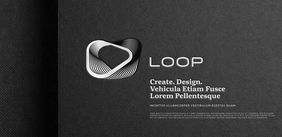 Logo design trends 2020 example: layers and shadows