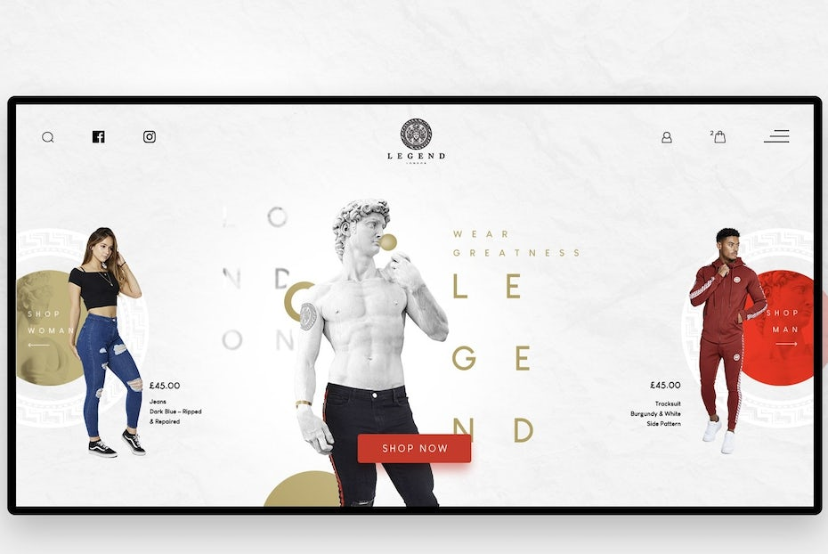 Example of 2020 web design trend of photography and graphics
