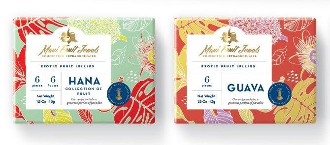 Ejemplo de tendencias de diseño gráfico 2020: diseño de empaques con estampados florales vibrantes y coloridos