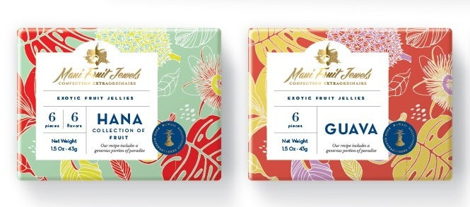 Vibrant, colorful floral patterned packaging design