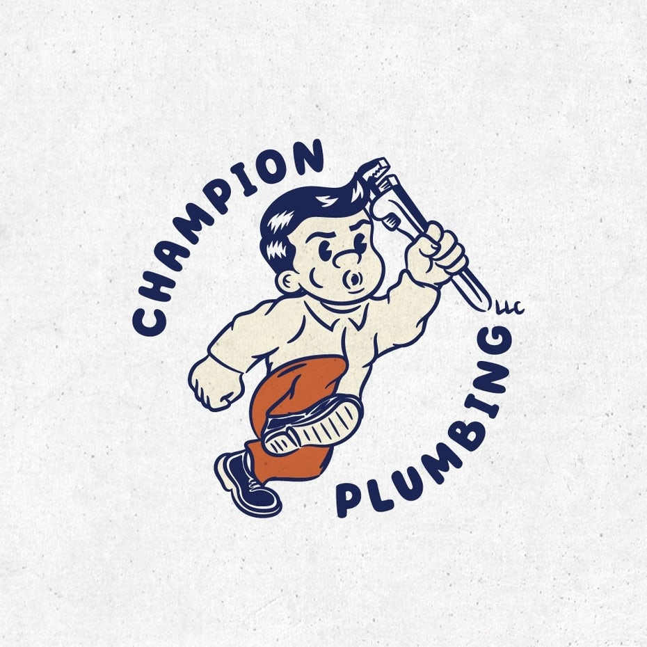 Logo design trends 2020 example: 1930s cartoon logo