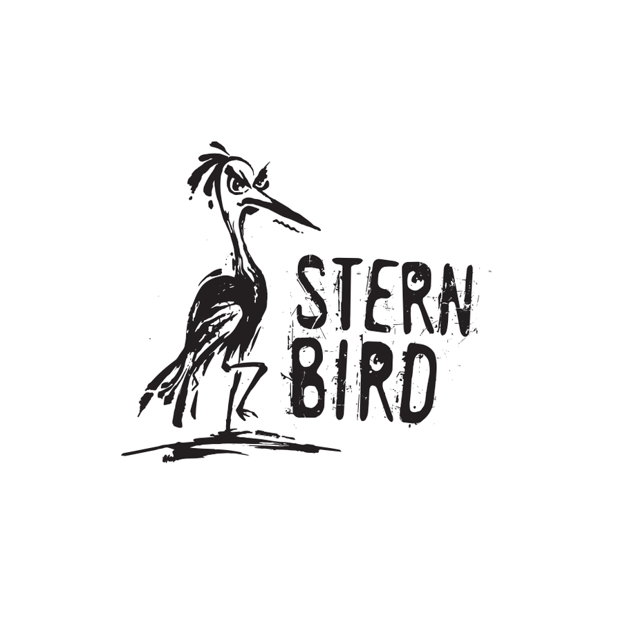 Logo design trends example: Ink-drawn-inspired image of an angry-looking bird