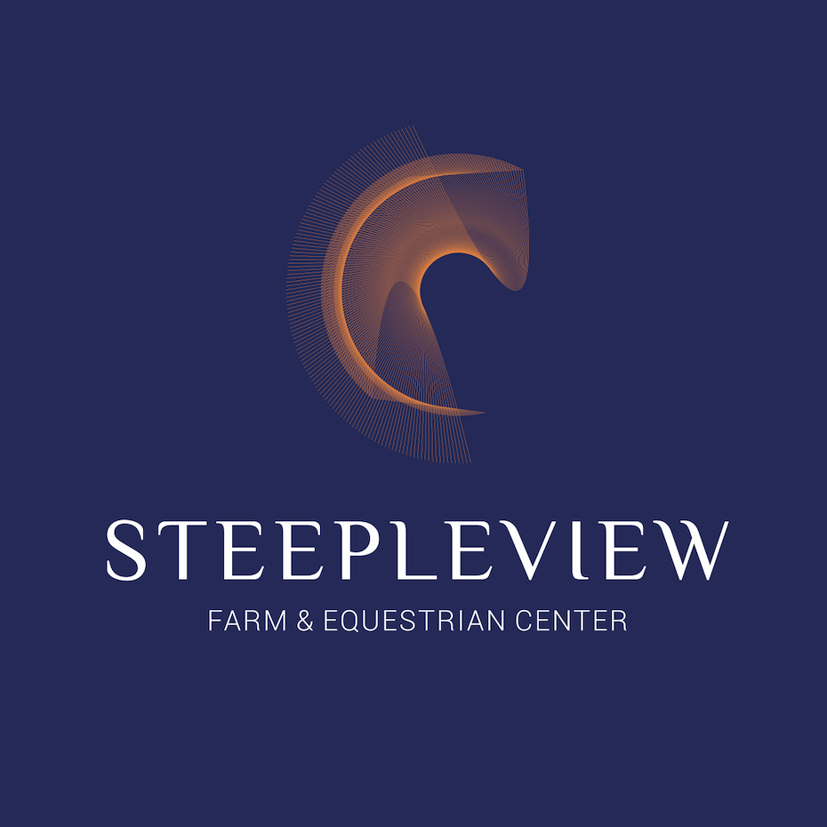2012 logo design trends & complete logo maker: abstract horse logo made of ultra thin lines