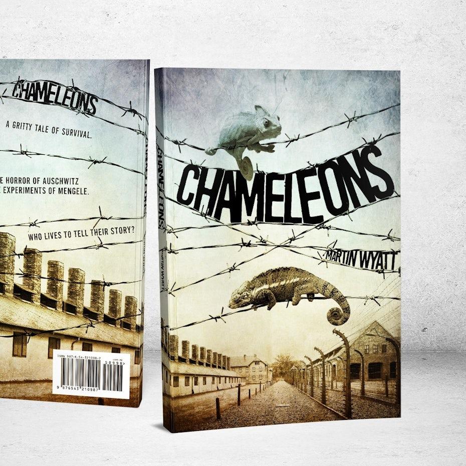 Ejemplo de tendencias de diseño gráfico 2020: diseño de portada de libro con tipografía dibujada a mano