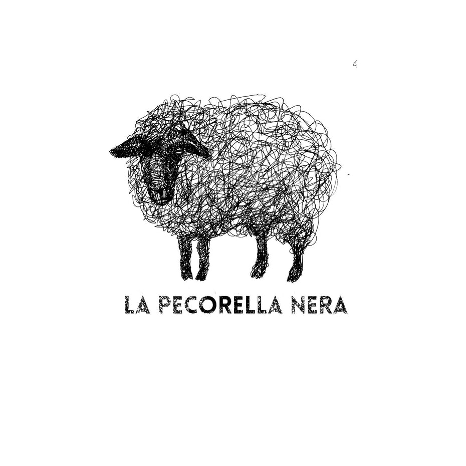 Logo of a sheep that looks like it was drawn in pen