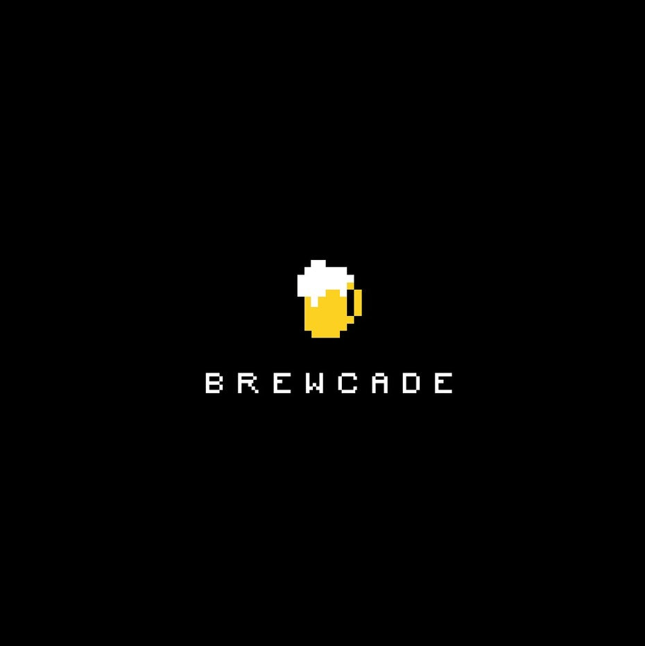 Logo design trends example: Pixelated image of a beer mug