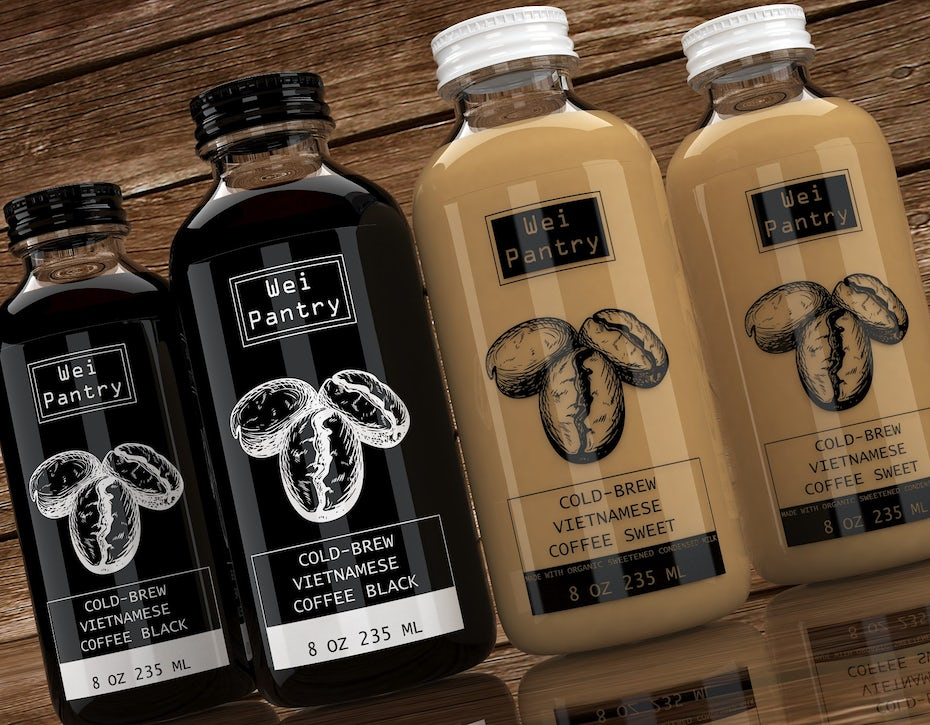 Packaging design trends 2020 example: Vietnamese Cold Brew Coffee Design