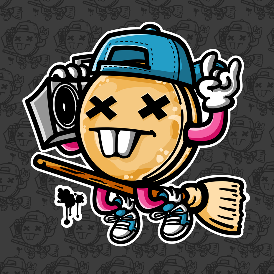 Street art style mascot design