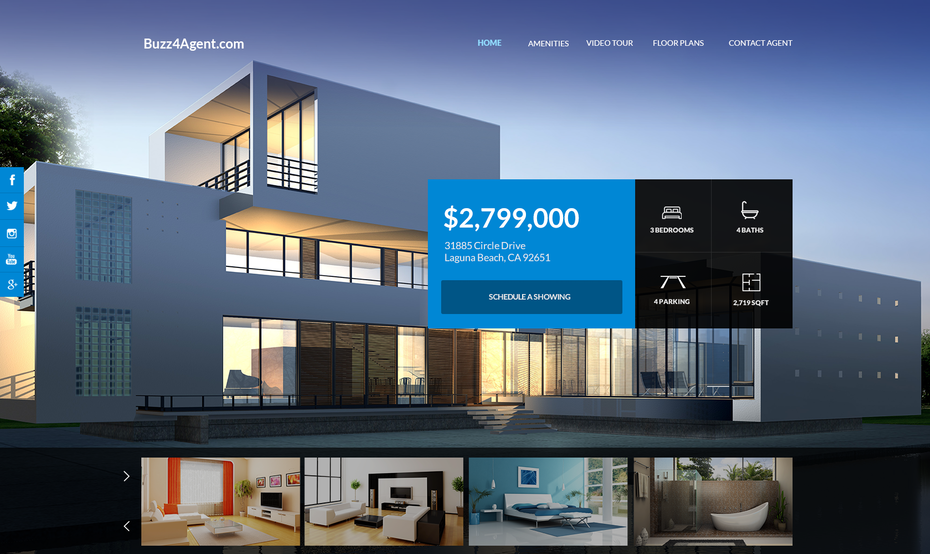 Minimalist website showing a modern home