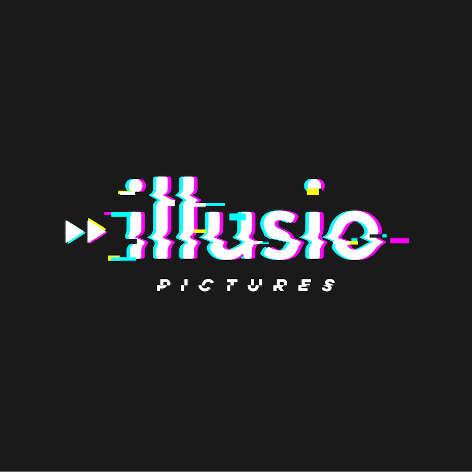 Glitch art logo design