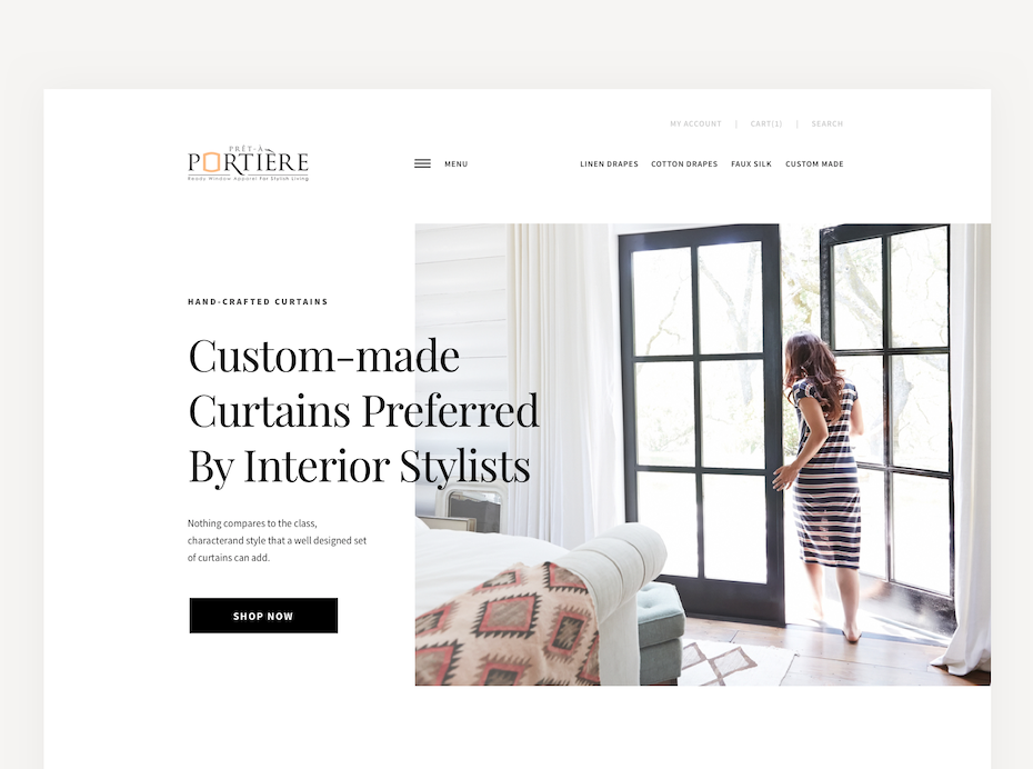 web design with white space framing around image