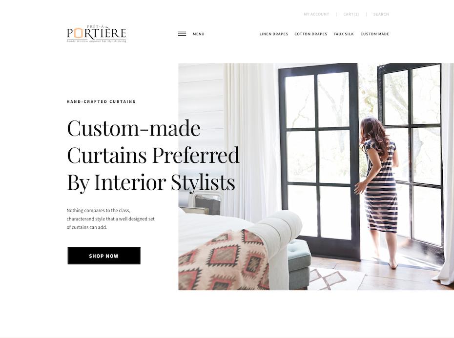 web design with white space framing around image