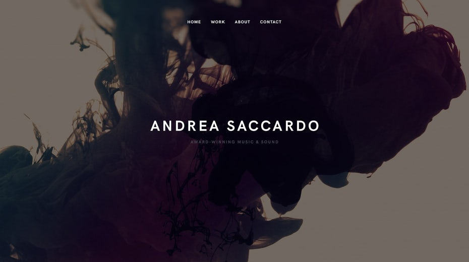 ultra minimalist web design with wavy black and brown background