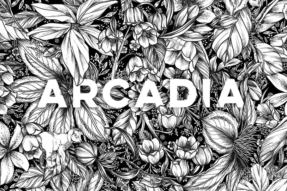 Packaging design trends 2020 example: detailed Arcadia Pattern for Beekman 1802