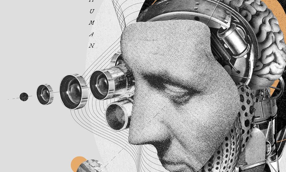 Tren desain kemasan 2020 contoh: Desain cyborg manusia Botol Legacy